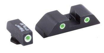 Sights Dot Green Night 3 (Ameriglo Glock Tritium Sight - Classic Style Night Sights. Classic Style ( Setscrew Rear), 3 DOT Green/green. Model # GL-119-U)