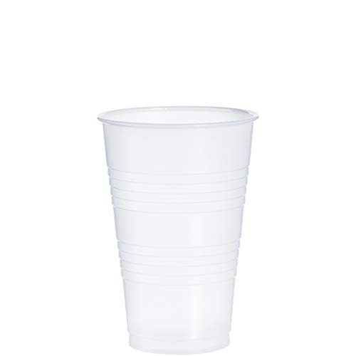 Dart Y20 20 oz Trans Ribbed Wall PS Cup (Case of 1000)