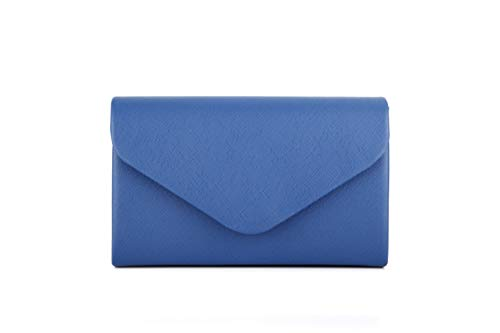 c2eaf89691 Nodykka Women Evening Envelope Purses and Handbags Party Bridal Clutch  Purse Shoulder Cross Body Bag (Royal-Blue-PU)