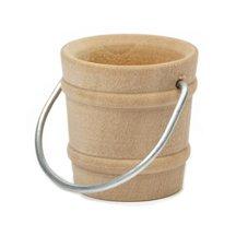 Wooden Bucket w/ Handle-Bag of 1