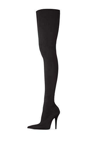 - Jeffrey Campbell Womens Gamora-HH Thigh High Black Lycra Boot - 6