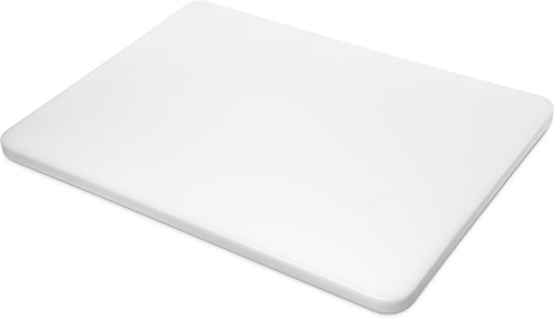 Carlisle 1288602 Sparta Spectrum Color Cutting Board, 15'' x 20'' x 3/4'', White (Case of 3) by Carlisle