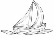 Clear Bevel Cluster Sailboat for Stained Glass ()