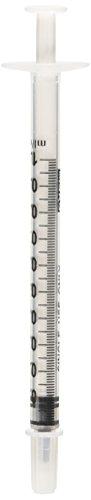 1/5 Tsp. 1 ML 1 CC Syringe w/o needle.