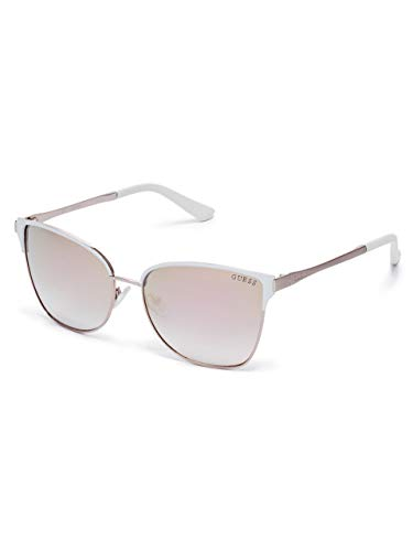 Gold Sunglasses Guess - GUESS Factory Mirrored Retro Sunglasses