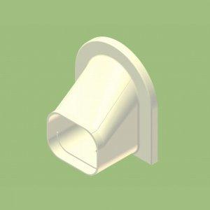 10個セット 配管化粧カバー 壁ぎわ用 出口化粧カバー(コーナーキャップ兼用) ホワイト KGD-9015-W_set