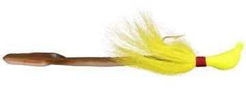 (Bomber Saltwater Grade 1 1/2-Ounce Jig-N-Eel Striper Jig, Chartreuse Finish)