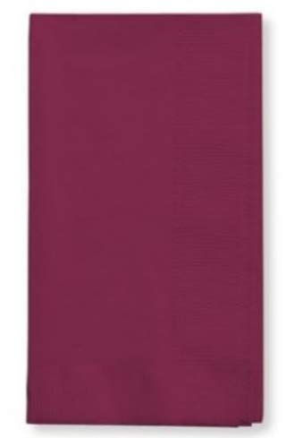 100 Burgundy Dinner Napkins for Wedding, Party, Bridal or Baby Shower, Disposable Bulk Supply Quality Product (Burgundy)