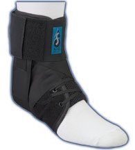 MedSpec EVO Speed Lacer Ankle Stabilizer (Black, Large)