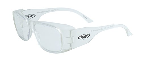 Global Vision Eyewear RX Series Sunglasses with Xylex Shiny Crystal Clear Frame and Clear Safety - Frames Sunglass Rx