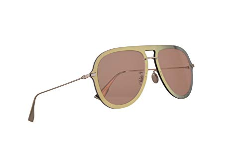 Christian Dior DiorUltime1 Sunglasses Gold Red w/Coral Lens 57mm XWLJW Diorultime 1 Ultime1