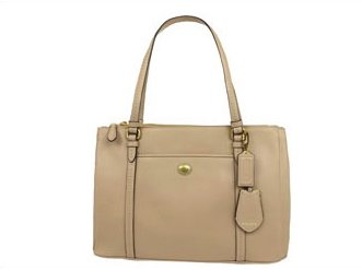 Coach Peyton Sand Leather Jordan Double Zip Carryall - Style 25669 by Coach