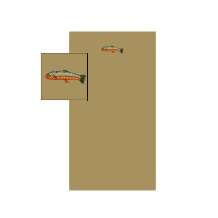 Fly Fishing Sheet Set Crib 30 x 50 In. by Patch Quilts