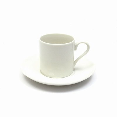 Maxwell and Williams Basics Straight Demi Cup and Saucer, 4-Ounce, White