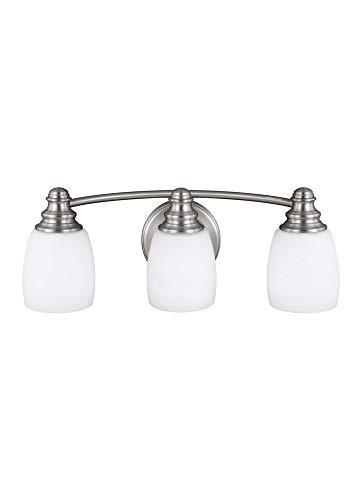 Bentley Lighting Bath - Feiss VS7403-SN Three Light Vanity, Satin Nickel