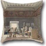 Oil Painting Joseph-Eugène Lacroix - A Studio In The Villa Medici, Rome Pillow Cases 18 X 18 Inches / 45 By 45 Cm Best Choice For Wedding,outdoor,seat,gf,dining Room,kids Boys With Twice Sides