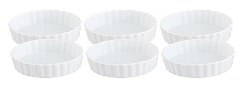 Porcelain Quiche (HIC Porcelain Round Quiche Dish 4- by 1-inch Set of 6)