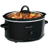 Crock Pot 6 Qt Slow Cooker Black Oval Scv600b
