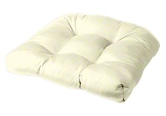 Amazon Com Tufted Chair Cushion Rounded Back Corners 21 X 19