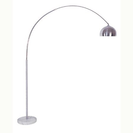 factory authentic 1772e c1f10 Arch Floor Lamp Stainless Steel Marble Base Modern Contemporary 6935