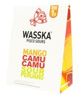 (Wasska Pisco Sours - Peruvian Mango Camu Sour 4.4oz 3 Pack)