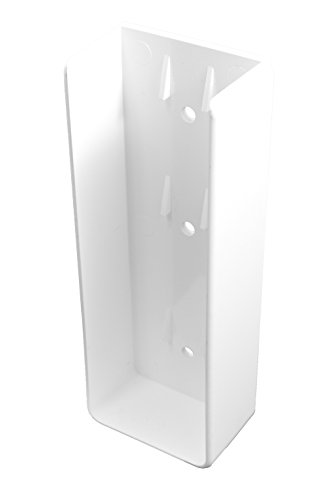 Durable White PVC Vinyl U-Mount Rail Bracket for A True 2 Inch X 6 Inch Rail | Single Pack | AWBR-UMOUNT-2X6