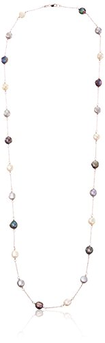 Honora Tuxedo Freshwater Cultured Pearl Tin Cup Necklace, 36'' by Honora