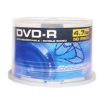 50PK DVDr 2X 4.7GB Media Cake Box 2 Hours of Video