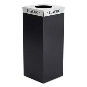 - Safco Square-Fecta Lid, Plastic, Silver