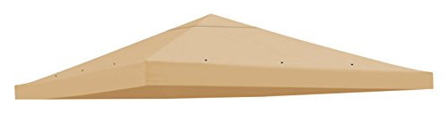 BenefitUSA Replacement Gazebo Canopy Top Patio Pavilion Cover Sunshade Polyester Single Tier, Beige by BenefitUSA
