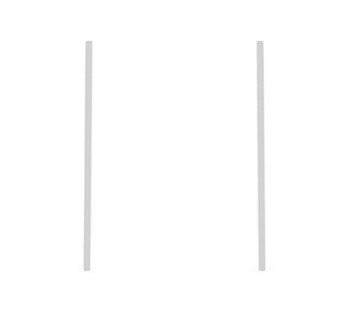 J Goodin Carolee Rhodium Stainless Steel Long Line Drop Earrings from JGOODIN