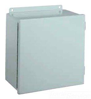 "Wiegmann B141206CH NEMA 12 JIC Box Continuous Hinge, Steel, 14"" x 12"" x 6"""