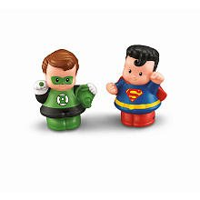 Fisher-Price Little People DC Super Friends Figures 2-Pack - Green Lantern and Superman ()