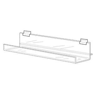 amazon com clear acrylic slatwall shelf 24 l industrial scientific rh amazon com acrylic slatwall shelf acrylic slatwall shelf