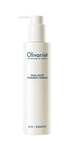 Olivarrier Dual Moist Hyaluron Essence 6.76 fl.oz. Unscented Antioxidant Mildly Acidic Moisturizer with Micro Hyaluronic Acid Olive Squalane Calming Hydrating for Dry Skin Sensitive Skin_Vitamin E