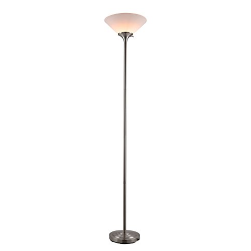 CO-Z Brushed Steel Tall Floor Lamp for Living Room/ Bedroom/ Home Office, 71