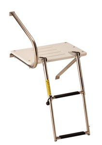 - Garelick Manufacturing 3003.1483 19537 Transom Platform with Telescoping Ladder