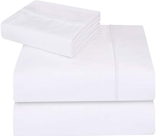 - Utopia Bedding 3-Piece Twin Bed Sheets Set (White)