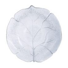 Arcoroc Leafen Fully Tempered Glass Soup Plate, 8 7/8 inch -- 12 per case.