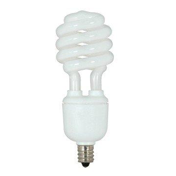 ((Pack of 6) Satco S7364, 13-Watt Candelabra Base T2 Mini Spiral, 2700K, 120V, Equivalent to 60-Watt Incandescent Lamp for Enclosed Fixtures, Compact Fluorescent Bulb)