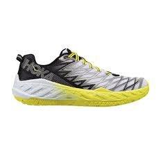 HOKA ONE ONE Men's Clayton 2 Running Shoe, Black/White/Citrus 8.5 D(M) US