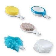EasyComforts 15 Piece Interchangeable Bath Sponges With Hand