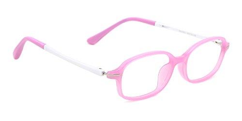 TIJN Kids Classic Non-prescription Oval Eyeglasses Flex Arm - No Eyeglasses Prescription