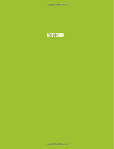 Notebook: Lime Green, Ruled, Soft Cover, Letter Size (8.5 x 11) Notebook
