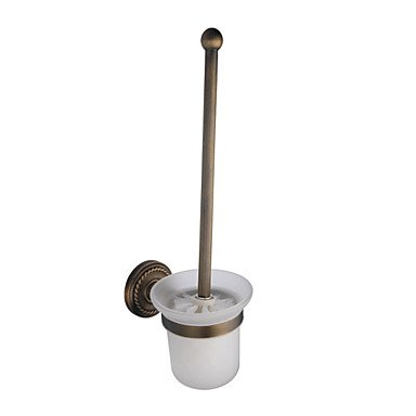 XY&XH Toilet Brush Holder , Antique Brass Wall-mounted Toilet Brush Holder