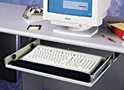 Mead-Hatcher Adjustable Steel Keyboard Drawer, Black (MAT32030) ()