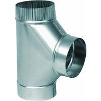 26 Gauge Galvanized Tee - Imperial Manufacturing Furnace Pipe Full Flow Tee 8