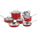 Cuisinart CSS-11MR 11-Piece Classic Cookware Set, Red (Cuisinart Mcp Saute Pan compare prices)
