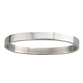 (Tara Celtic Knot Bangle Stainless Steel Engraved Irish Made)