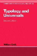 Typology and Universals (Cambridge Textbooks in Linguistics)